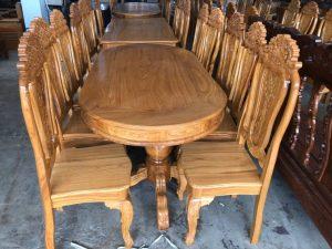 Bàn ăn gỗ Gõ Đỏ 8 ghế