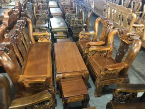 Salon Đào tay Rồng gỗ Tràm tay 12