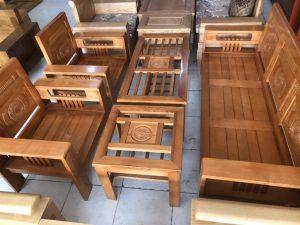 Salon gỗ Sồi Nga tay 12