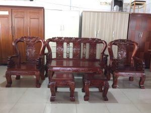 Salon gỗ Tràm chạm hình Cá tay 10