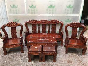 Salon gỗ Xoan Tràm tay 8