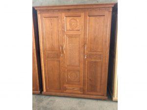 Tủ áo gỗ Sồi màu Xoan Đào