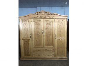 Tủ quần áo gỗ Sồi Nga đình cao
